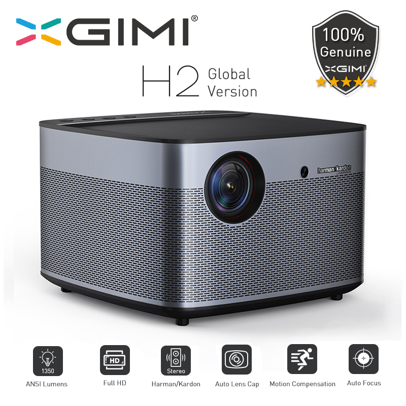 XGIMI H2 Global version DLP Projector 1080P Full HD 1350 Ansi Lumens 3D Projecteur 4K Android