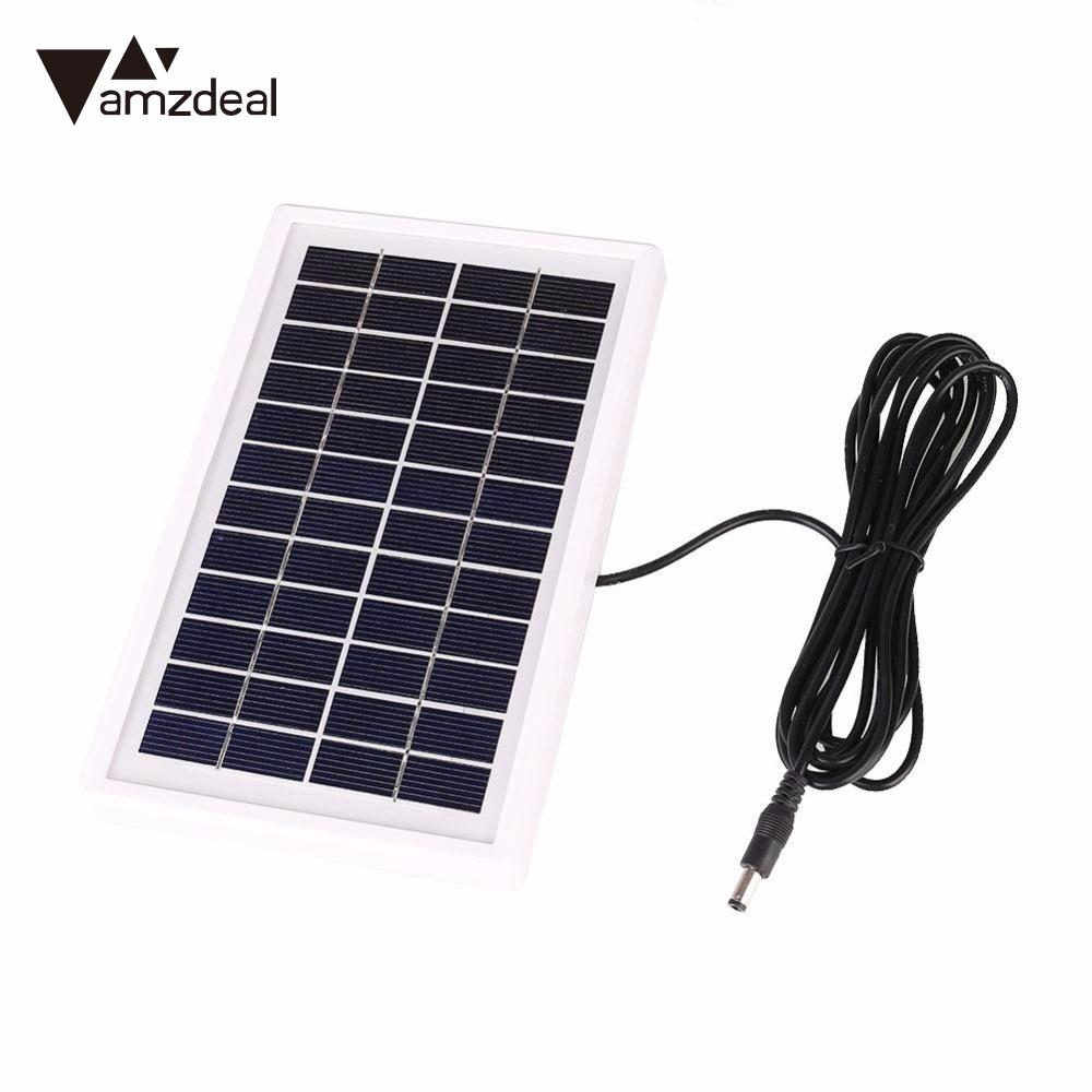 3W 12V White Frame Solar Panel Sealed Battery Charger Cell Charging ...