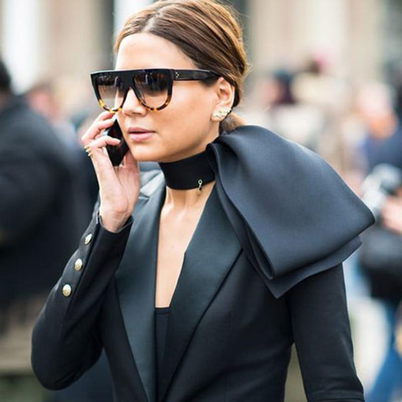 RBUDDY Kim Kardashian Sončna očala Ženske Flat Top Classic Super Brand Designer Oversize 2017 Ženska CL Shades lunettes de soleil