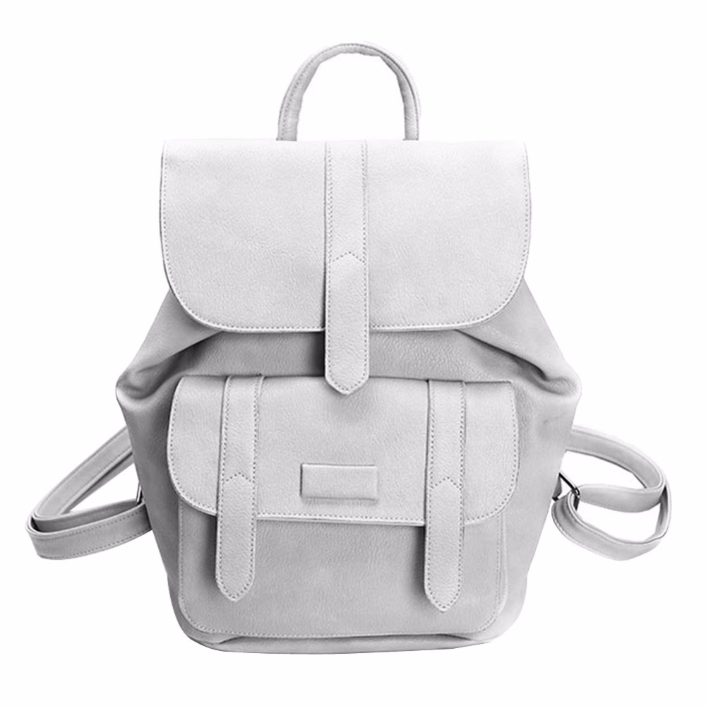 Famous Brand Women Backpacks Solid Vintage Girls School Bags for Teenager Girls PU Leather Women Backpack Bagpack Mochila