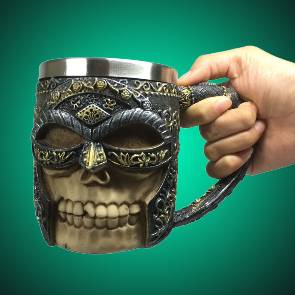 1Piece Viking Tankard Skull Warrior Striking Beer Mug Celtic ...