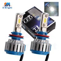 2pcs 12V 24V T1 35W 40W Highlight Led Bulbs 9005 9006 H1 H3 H4 H7 H11