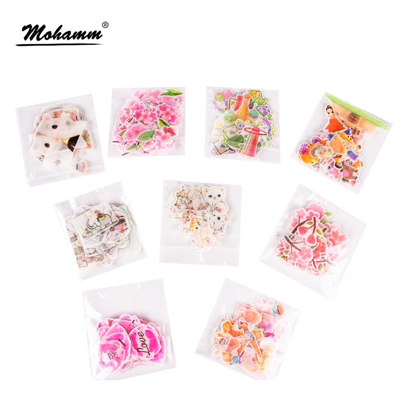 Creative Kawaii Flowers Animals House DIY PVC Transparent Decorative Stickers Scrapbooking Notebook Photo Album Kids Child Toy cutiepie kinds of 0 9 numbers transparent clear stamps for scrapbooking diy silicone seals photo album embossing folder stencils