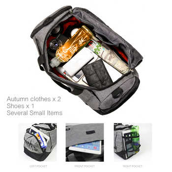 MARKROYAL Multifunctional Waterproof Men Travel Bag Anti-Theft Design Travel Duffle Large Capacity Handbag Weekend Bag Overnight