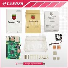 C Framboise Pi 3 starter kit-raspberry pi 3 modèle b avec wifi & bleu et raspberry pi cas avec ventilateur et la chaleur évier