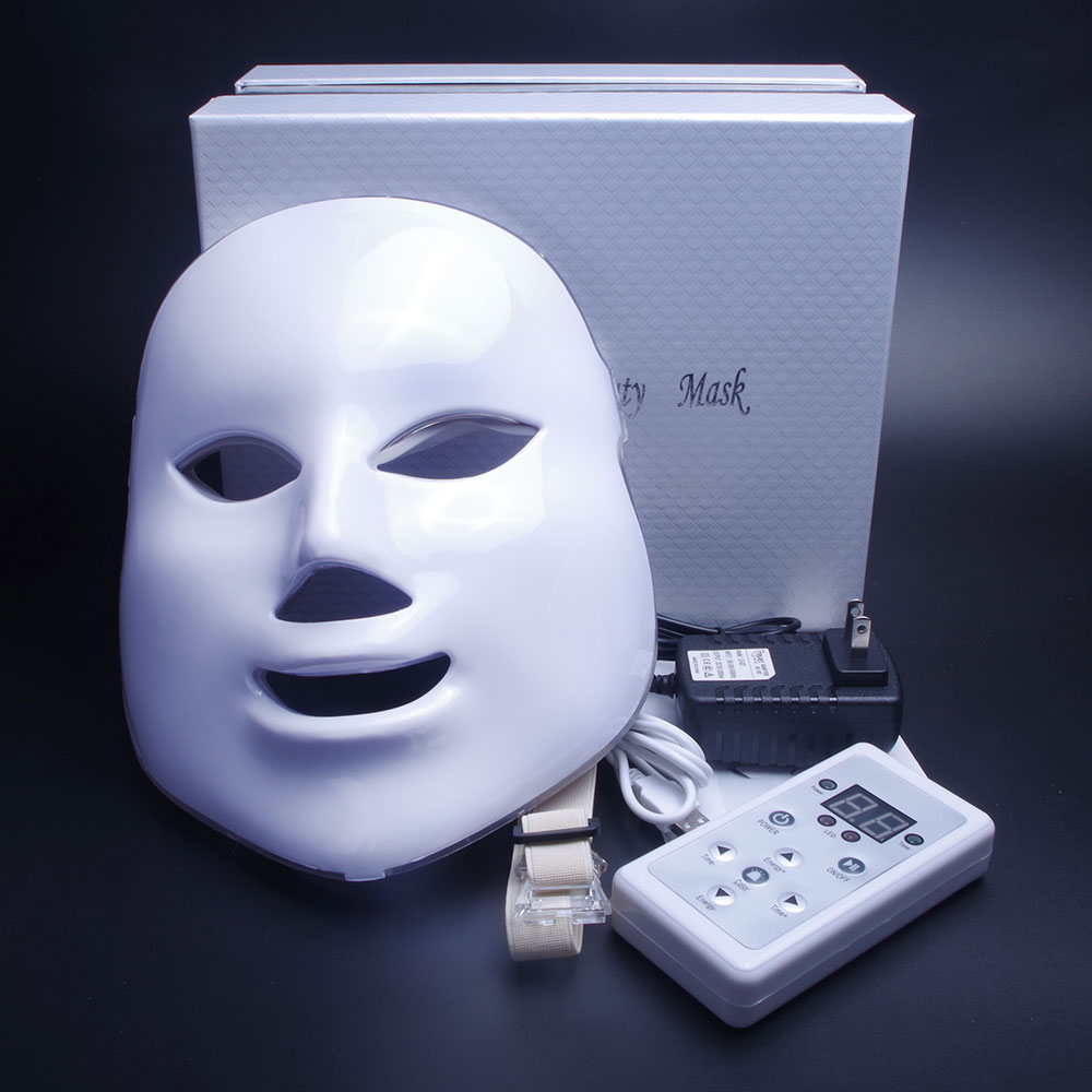 7 Colors Light Photon Electric LED Facial Mask Skin PDT Rejuvenation Anti Acne Wrinkle Removal Therapy Beauty Salon