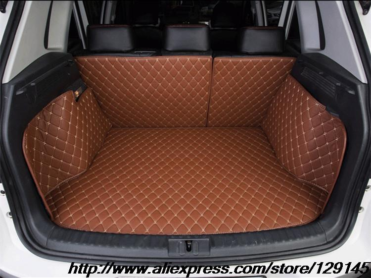 All surround car trunk mat for Subaru Forester Outback XV 3D TPE+XPE Anti-slip leather trunk pad Customized  floor mat all surround car trunk mat for volkswagen vw 2017 tiguan l anti slip leather trunk pad customized floor mat 3d car style