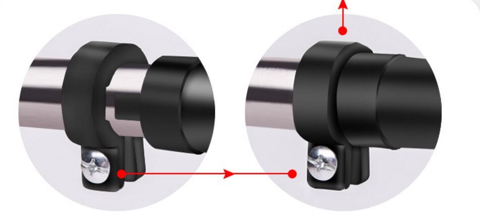 Barre horizontale réglable de porte polyvalente de 70 90 cm barre professionnelle de forme physique avec la serrure antidérapante - 4
