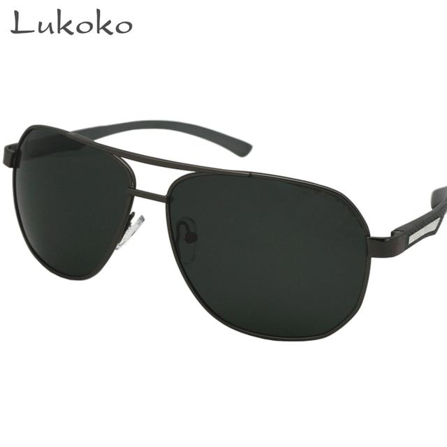 ae81bbdfaae39 Lukoko Gozluk Italiano Marcas de Óculos Sunglases Aviador Óculos De Sol Dos  Homens do Sexo Masculino