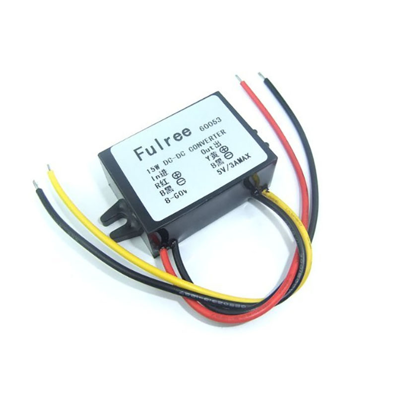 Waterproof DC Converter Regulator 8-55V 12/24/36/48/55V Step Down to 5V 15W 3A