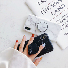 The marble For iPhone6 6 s 8 7 + fashion station holder silicone soft phone case iPhone X Max XR
