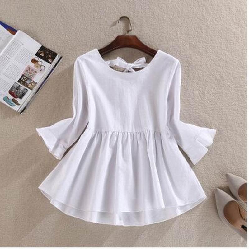 6ff94a907d9 Plus size Retro women Doll Shirts Mori girl 2017 women blusen Shirt lantern  sleeve loose cotton Linen female blusas feminina -in Blouses   Shirts from  ...