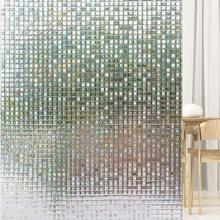 Funlife 90x200cm Vinyl Self-adhesive Window Privacy Film 3D Static Cling Glass Decor Anti UV Sticker Heat Control