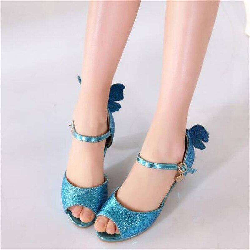 salto alto princesa meninas sapatos de couro 05