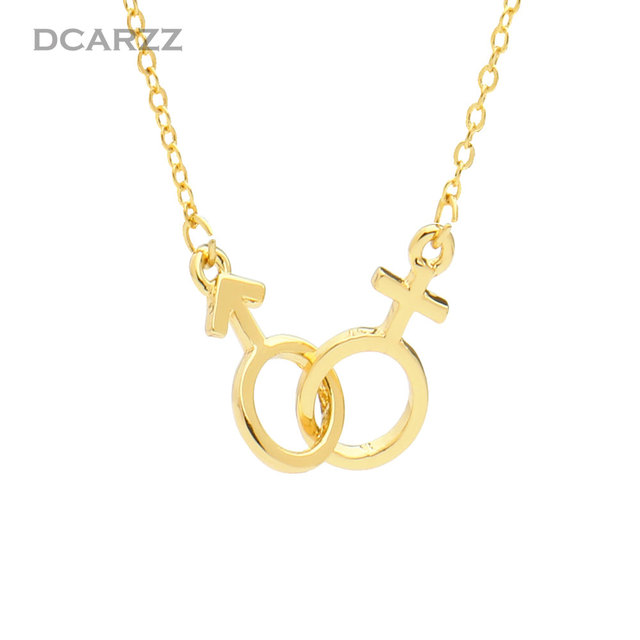 Unisex Pendant Male Female Symbol Necklace Medical Jewelery Cute