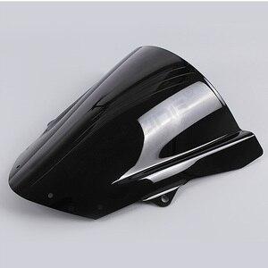 Image 5 - שמשה קדמית שמשה קדמית בועה כפולה עבור Kawasaki ZX6R ZX 6R 2009 2016 ZX10R ZX 10R 2008 2010