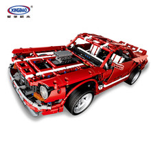 XINGBAO 07001 The Future Car Series 2000PCS 2014 Muscle Set Building Blocks MOC Bricks Compatible Legoings Technic