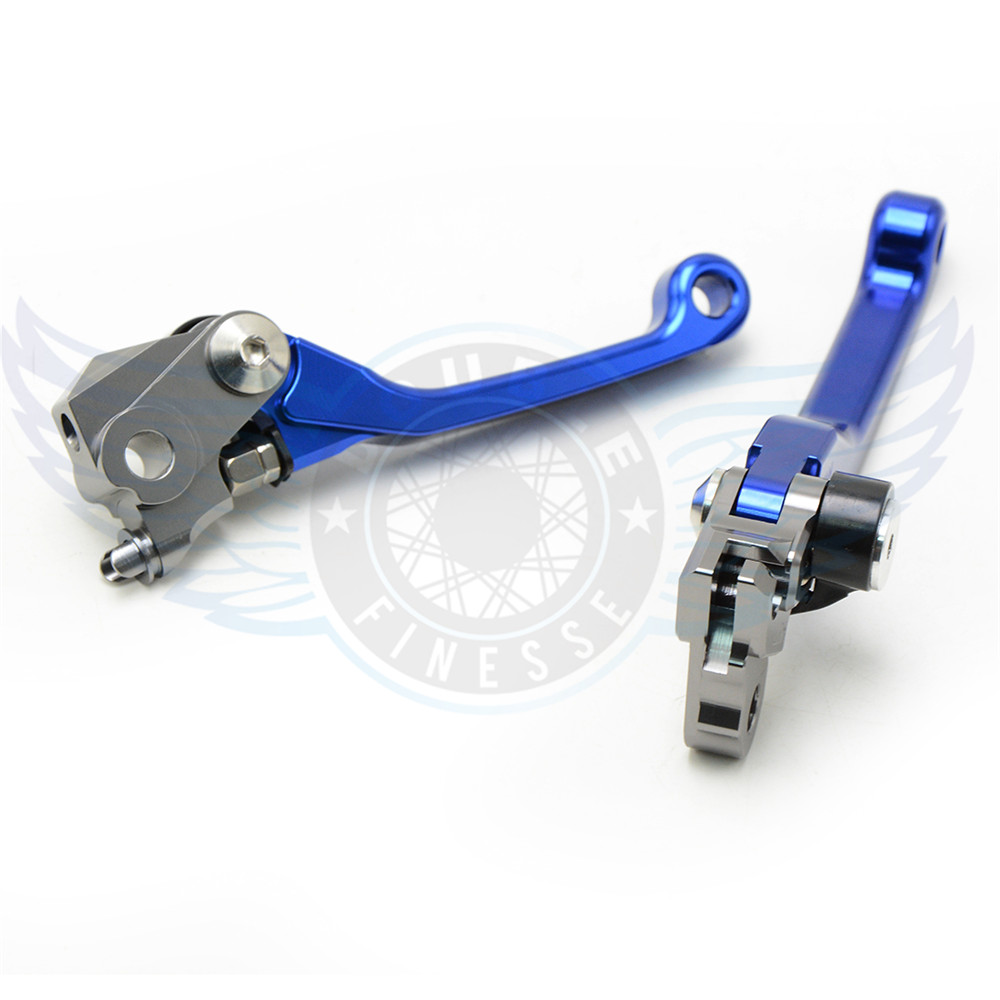 ФОТО high quality motorcycle accessories folding Pivot Levers Brake Clutch cnc blue color For Yamaha YZ250F    2009 2010 2011 2012