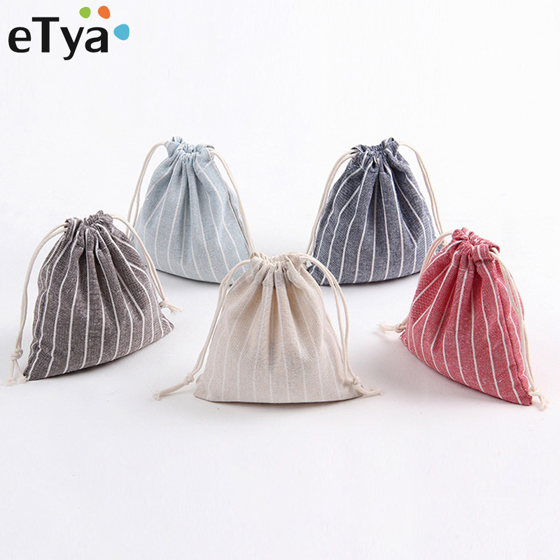 eTya High Quality Women Men Travel Clothes Shoes Storage Drawstring Bag Luggage Package Cosmetic Bag Fashion Makeup bag Case