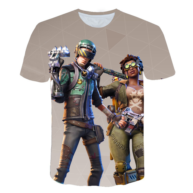 Gamer Sudadera Fortniuter T-shirt Men/women Fortnited 3D Print T shirt Summer Short Sleeve Tshirt Harajuku Royal Anime Tee Shirt