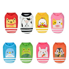 Cute Warm Jackets for Pets Dog Clothes with Animals Picture Cartoon Design Pet Small Dogs 8 Colors