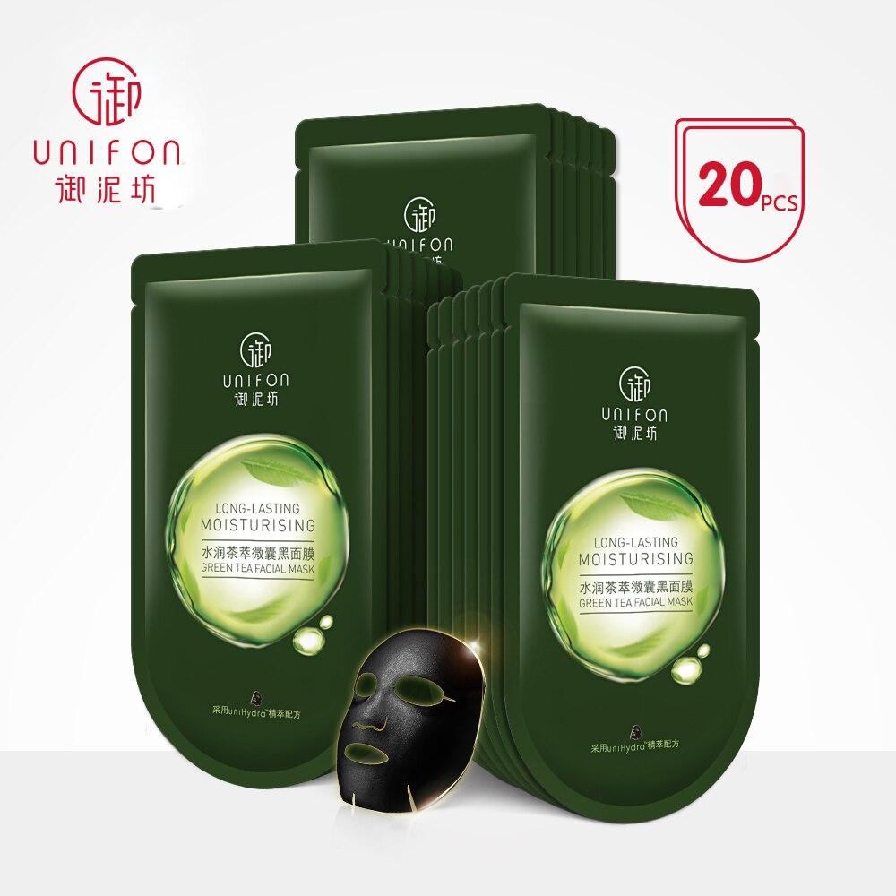 YUNIFANG/UNIFON thé extrait noir masque FACIAL hydratant hydratant éclaircissant huile-contrôle soins du visage 25 ml * 20 pièces