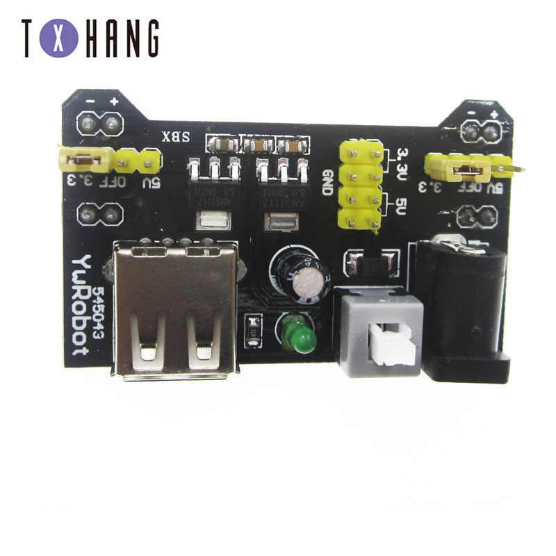 MB102 Solderless Bo Mạch Mô Đun Cung Cấp Năng Lượng Cho Arduino Nano 3.3V 5V MB102 Trắng/Đen Bo Mạch Điện Chuyên Dụng mô Đun