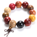 Chinese Style Multicolor Bead Bracelets The Wooden Hand String Men And Women Jewelry Popular Bracelet Charms Fashion Accessories