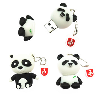 Novelty Animal Panda USB Flash Drive Cartoon Pen Drive 4GB 8GB 16GB 32GB 64GB Pendrive Key Chain Usb2.0 Flash Drives Usb Stick