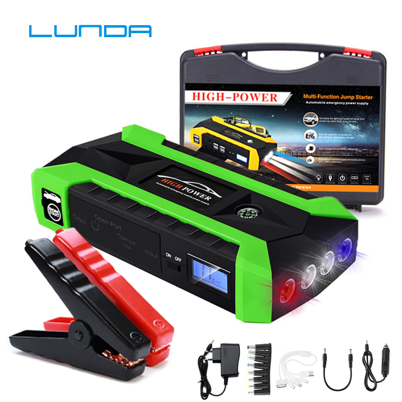 2019 Latest Design Lunda 68000 Mwh Car Jump Starter For Petrol Car Battery Charger Emergency 60c Discharge Auto Starting High Power Pack Bank Latest Fashion