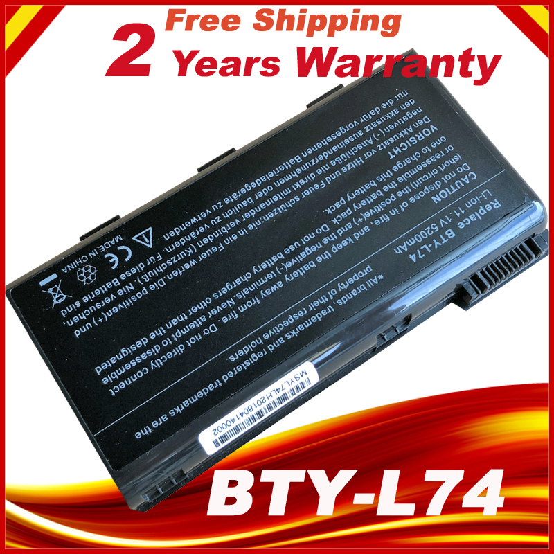 bty l74 BTY-L74 Laptop Battery For MSI A5000 A6000 A6200 CR600 CR600 CR620 CR700 CX600 CX700 All Series MSI CX620 11 1v 9 cells bty l75 bty l74 laptop battery for msi cx600x cr610 cr620 cr700