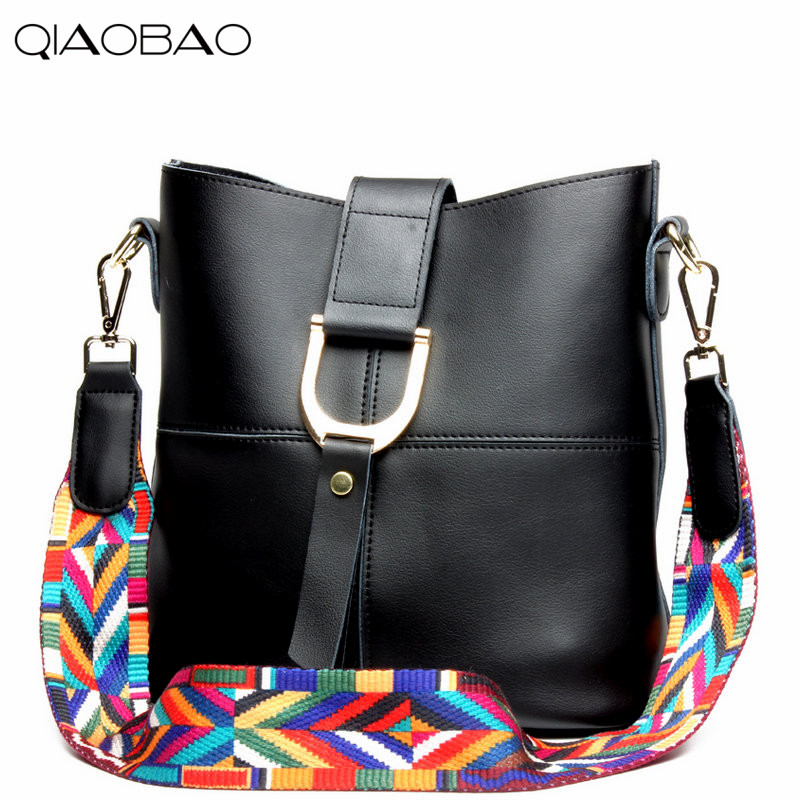 QIAOBAO 100% Genuine Leather ladies big bag bucket leisure fashion leather shopping shoulder bag composite bag qiaobao 100% genuine leather handbags new network of red explosion ladle ladies bag fashion trend ladies bag