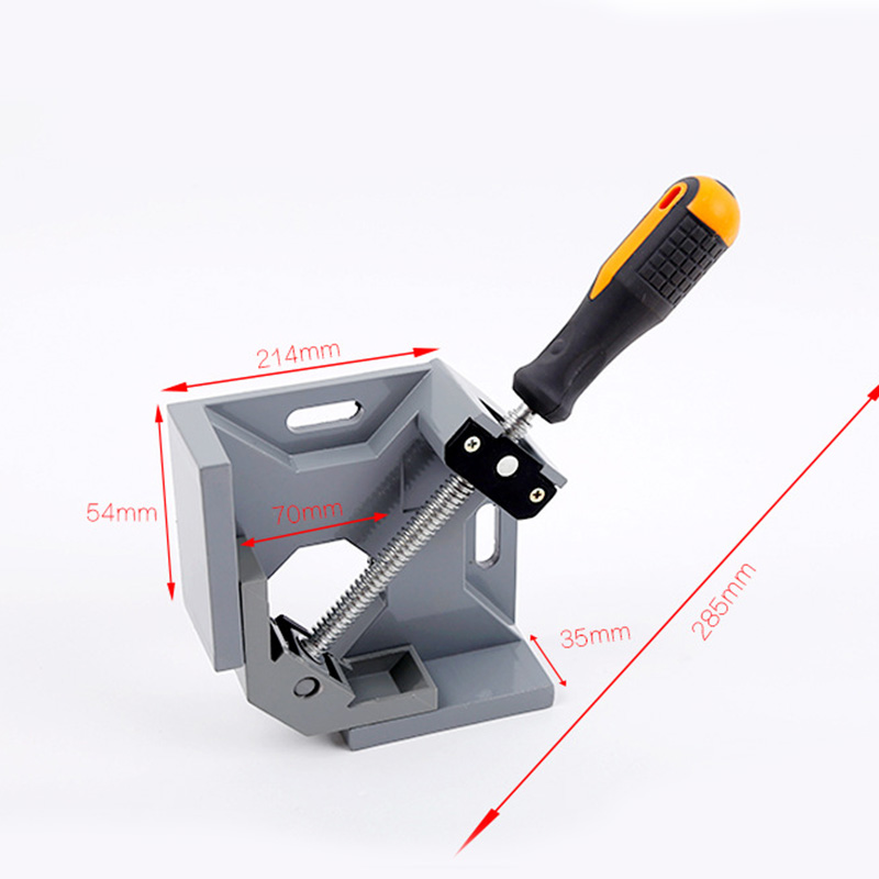 Aluminum Single Handle 90 Degree Right Angle Clamp Angle Clamp Woodworking Frame Clip Right Angle Folder Tool P20 ninth world new single handlealuminum 90 degree right angle clamp angle clamp woodworking frame clip right angle folder tool