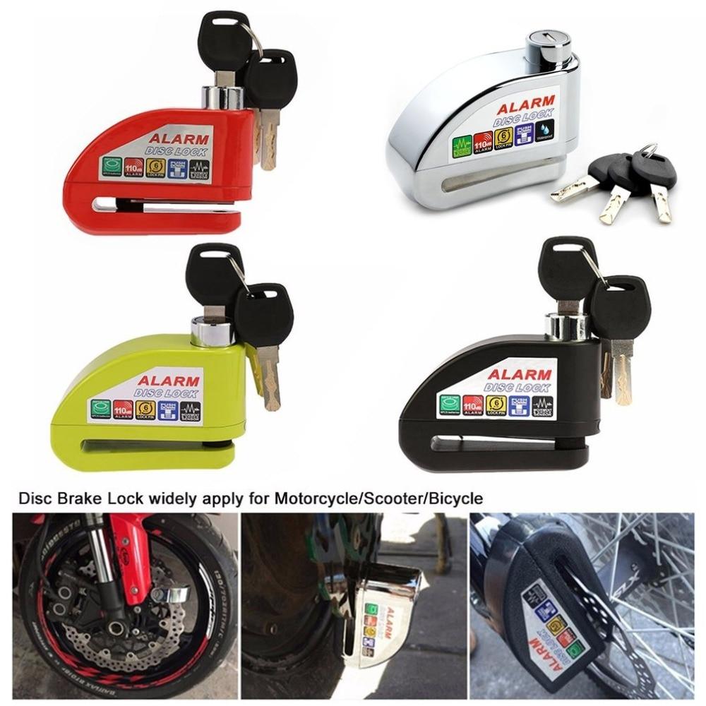 Universal Moto Motorcycle Alarm Lock Disc Lock Scooter Bicycle Disc Brake Lock Security Anti-theft Alarm Lock with 3 Keys 2018 fidloc bicycle disc brake lock set blue