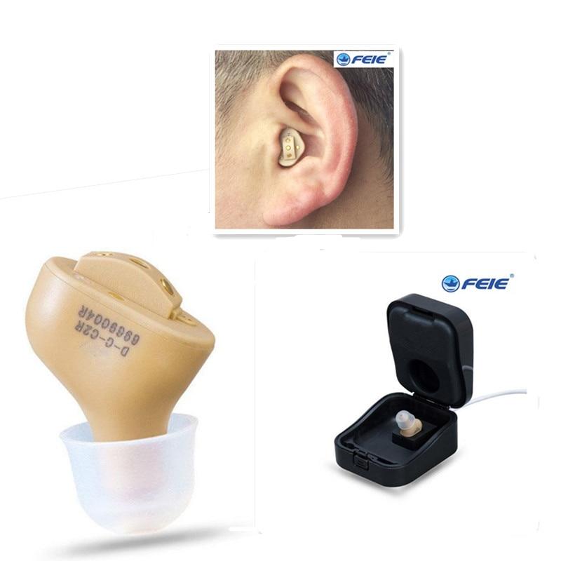 CIC Invisible Rechargeable Audience Aide Avec Réduction Du Bruit L'oreille Son Amplificateur Réglable Tone pour les Personnes Âgées S-51 Bateau Libre