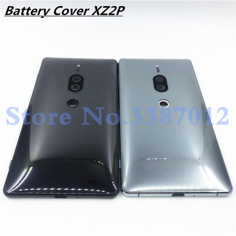 Original pour Sony Xperia XZ2 Premium XZ2P batterie arrière couvercle en verre boîtier de porte arrière avec objectif de caméra et Logo + clé latérale