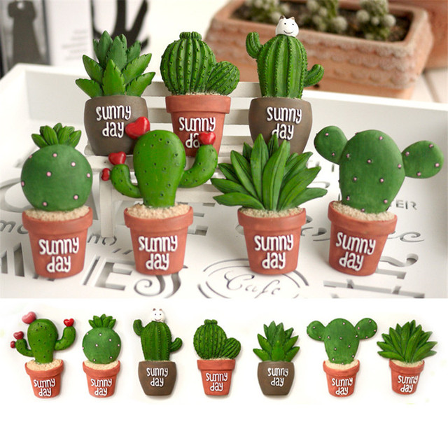 sunny day home office. Free Shipping High Quality Cute Cactus Sunny Succulent Plants Fridge Magnets Figure Toy Car Home Office Day F