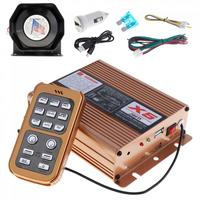 200W 20V 8 Sound Loud Car Warning Alarm Police Siren Horn Speaker With MIC System And