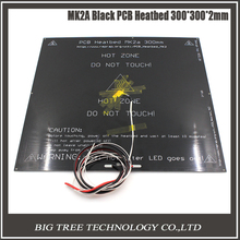 MK2A 300*300*2,0mm 12 v RepRap RAMPS 1,4 PCB Heatbed + LED Widerstand + kabel + Thermistoren Für Prusa & Mendel Für 3d-drucker MK2B