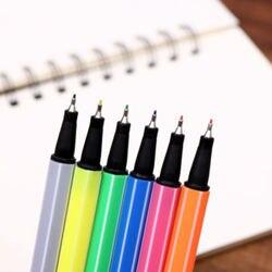 0.38mm 24 kolorowy marker na bazie wody z włókna linii hak pióro grzywny skok pióro ręcznie pod uwagę kolor pióro szkoła student dostaw sztuki