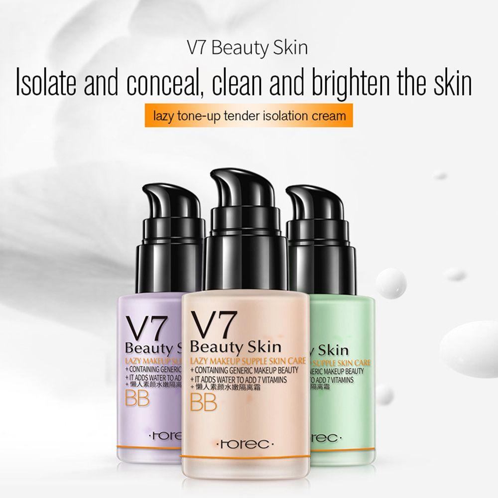 BIOAQUA V7 Lazy Lotion BB CC Cream Natural Moisturizing Makeup Concealer Foundation Waterproof Cosmetic