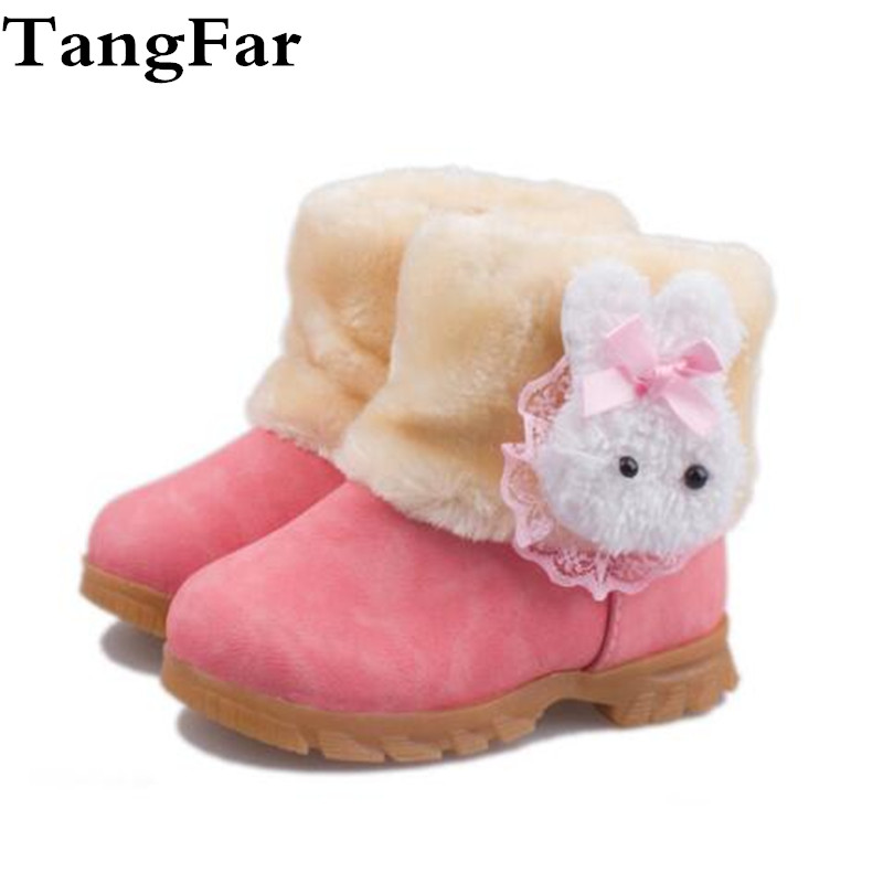 UK Baby Kids Girls Warm Flats Fur Lined Ankle Boots Chelsea Martin Shoes