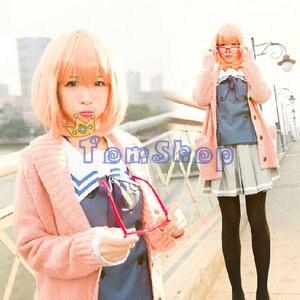 Image 2 - Anime Kyokai no Kanata (Beyond the Boundary) Kuriyama Mirai Cosplay Costume Japanese Girls School Uniform and Sweater