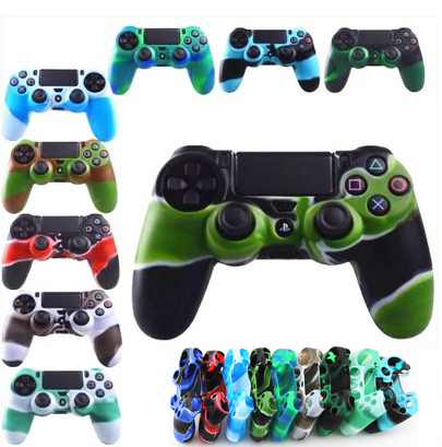 For SONY PlayStation 4 PS4 Controller PS4 Slim Pro Camouflage Soft Silicone Guards Skin  ...