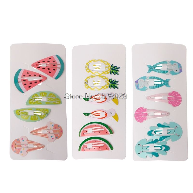3 Pair/lot Baby Mini Small Hair Clips Safety Hair Pins Barrettes For Girls Kids   -B1119