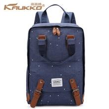 KAUKKO Для мужчин Для женщин Оксфорд рюкзак для 14 дюймов ноутбука Школьные сумки для подростков горошек узор путешествия рюкзак цвет: черный, синий