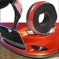 Estilo do carro 250 cm * 5.5 cm PVC Dianteira Do Carro Universal Rubber Bumper Lip Splitter Saia Cinta Protetor Resistente A Riscos decoração
