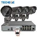 H.265 8CH NVR 5MP POE 2.8-12mm lente varifocal IP Câmera 4.0MP Sistema POE P2P Nuvem 8CH POE Sistema NVR Suporte PC & Mobile Ver
