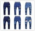 Otoño 2016 ropa de los nuevos niños boy pantalones vaqueros de los niños grandes niñas vírgenes pantalones de mezclilla