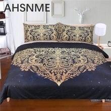 AHSNME любовь роскошный бронзированный богемный дизайн 3 шт постельных принадлежностей Соединенные Штаты двойной полный королева король не выцветает пиллинг